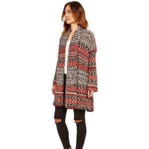 FREE PEOPLE IONA PATTERN WRAP CHUNKY KNIT CARDIGAN